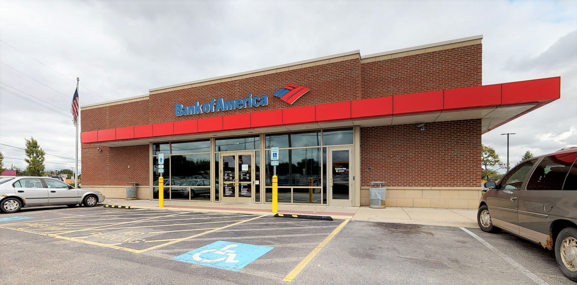 Bank of America financial center with drive-thru ATM and teller   1500 Irving Park Rd, Hanover Park, IL 60133