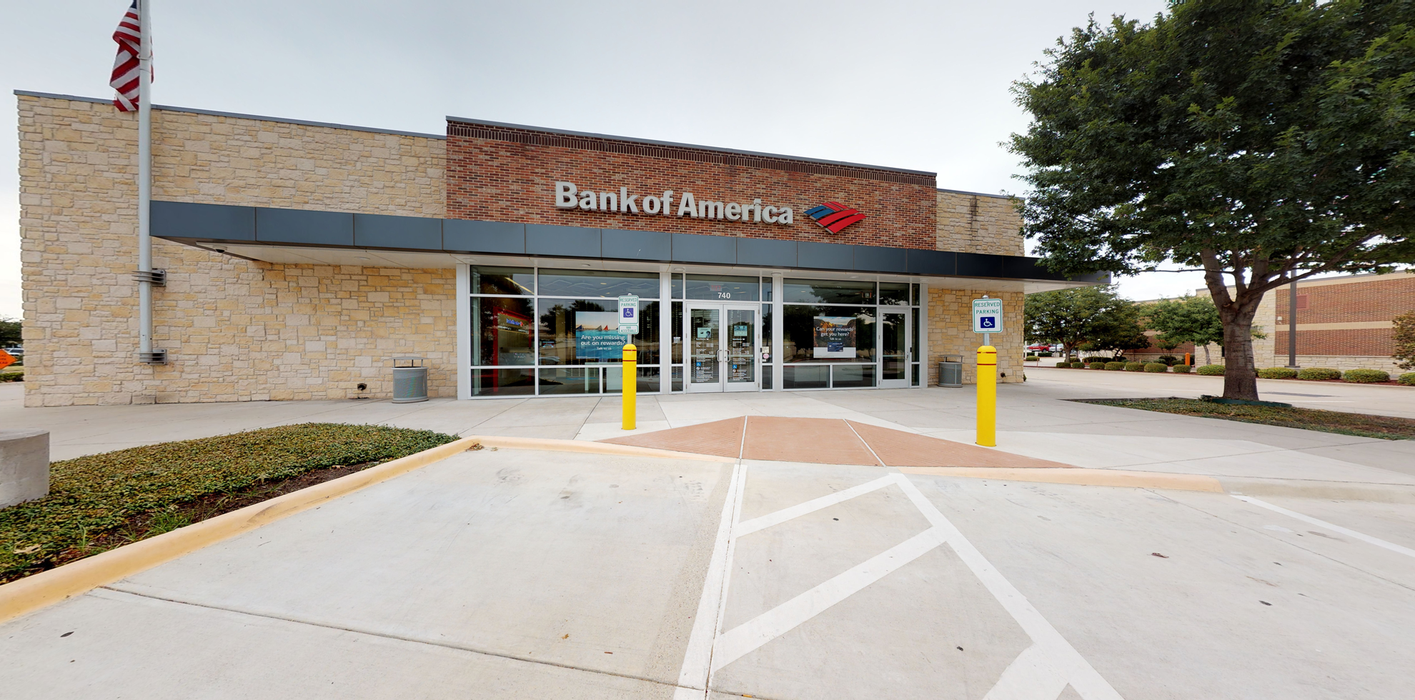 Bank of America financial center with drive-thru ATM | 740 N Denton Tap Rd, Coppell, TX 75019