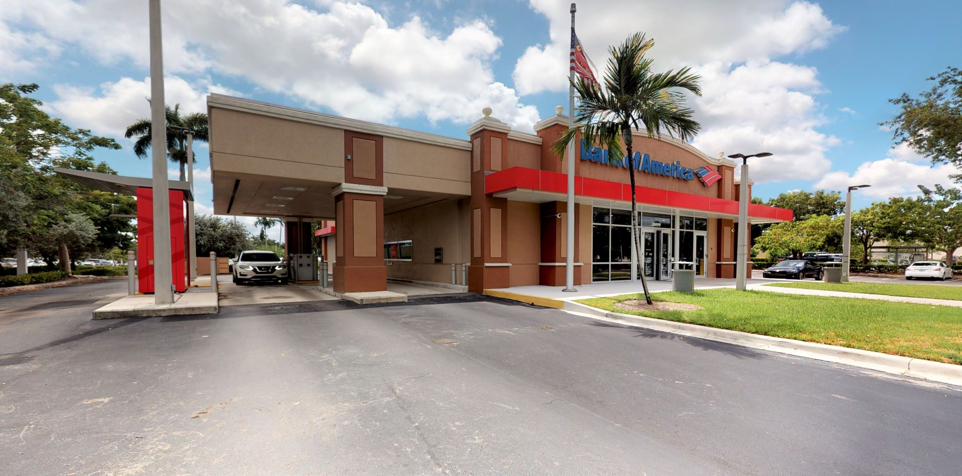 Bank of America financial center with drive-thru ATM | 20099 SW 127th Ave, Miami, FL 33177