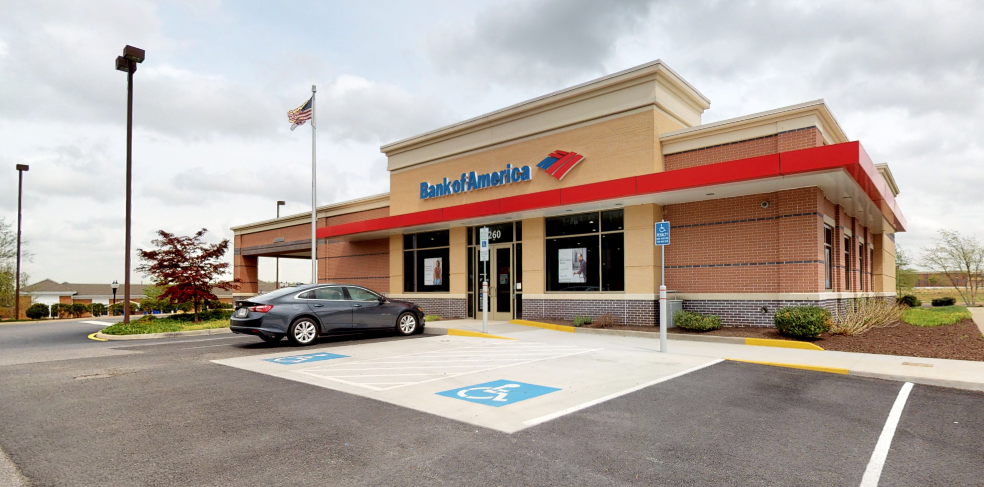 Bank of America financial center with drive-thru ATM   260 Schofield Dr, Midlothian, VA 23113