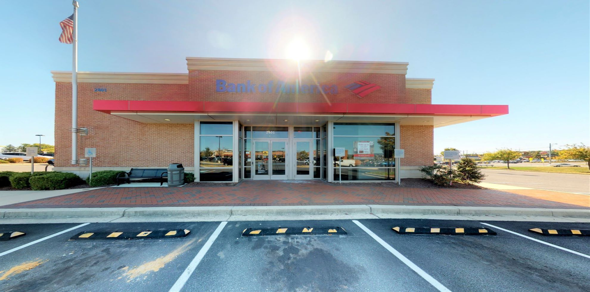 Bank of America financial center with drive-thru ATM | 2401 Osprey Way, Frederick, MD 21701
