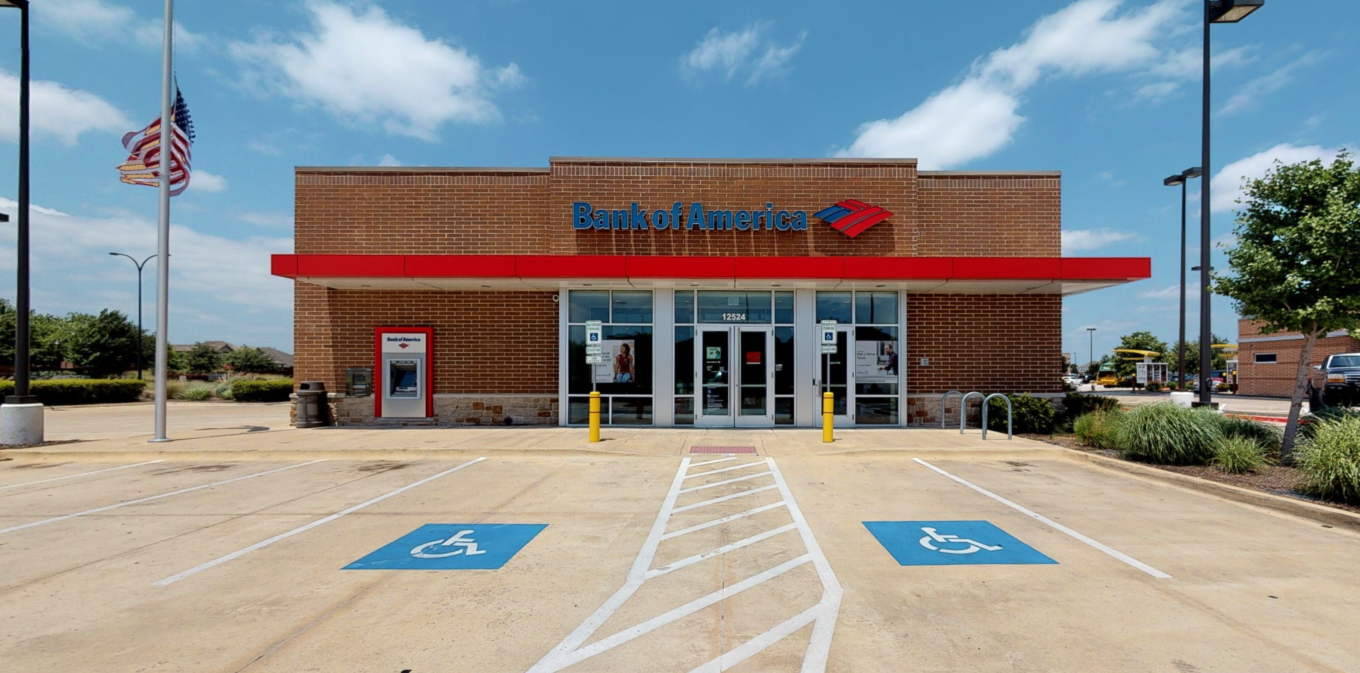 Bank of America financial center with drive-thru ATM   12524 N Beach St, Fort Worth, TX 76244