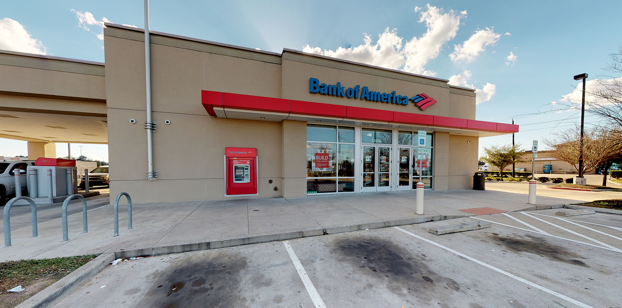 Bank of America financial center with drive-thru ATM | 13331 State Highway 249, Houston, TX 77086