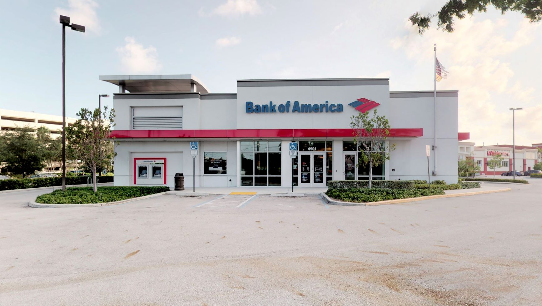 Bank of America financial center with drive-thru ATM   4901 N Federal Hwy, Fort Lauderdale, FL 33308