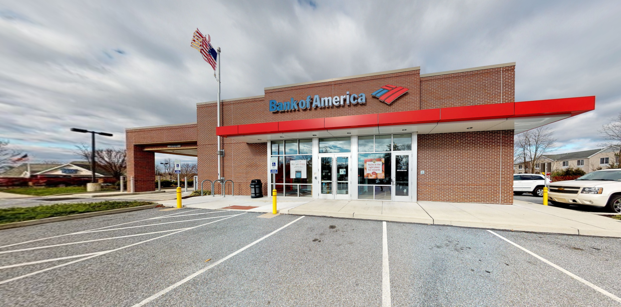 Bank of America financial center with drive-thru ATM   807 E Baltimore Pike, Kennett Square, PA 19348