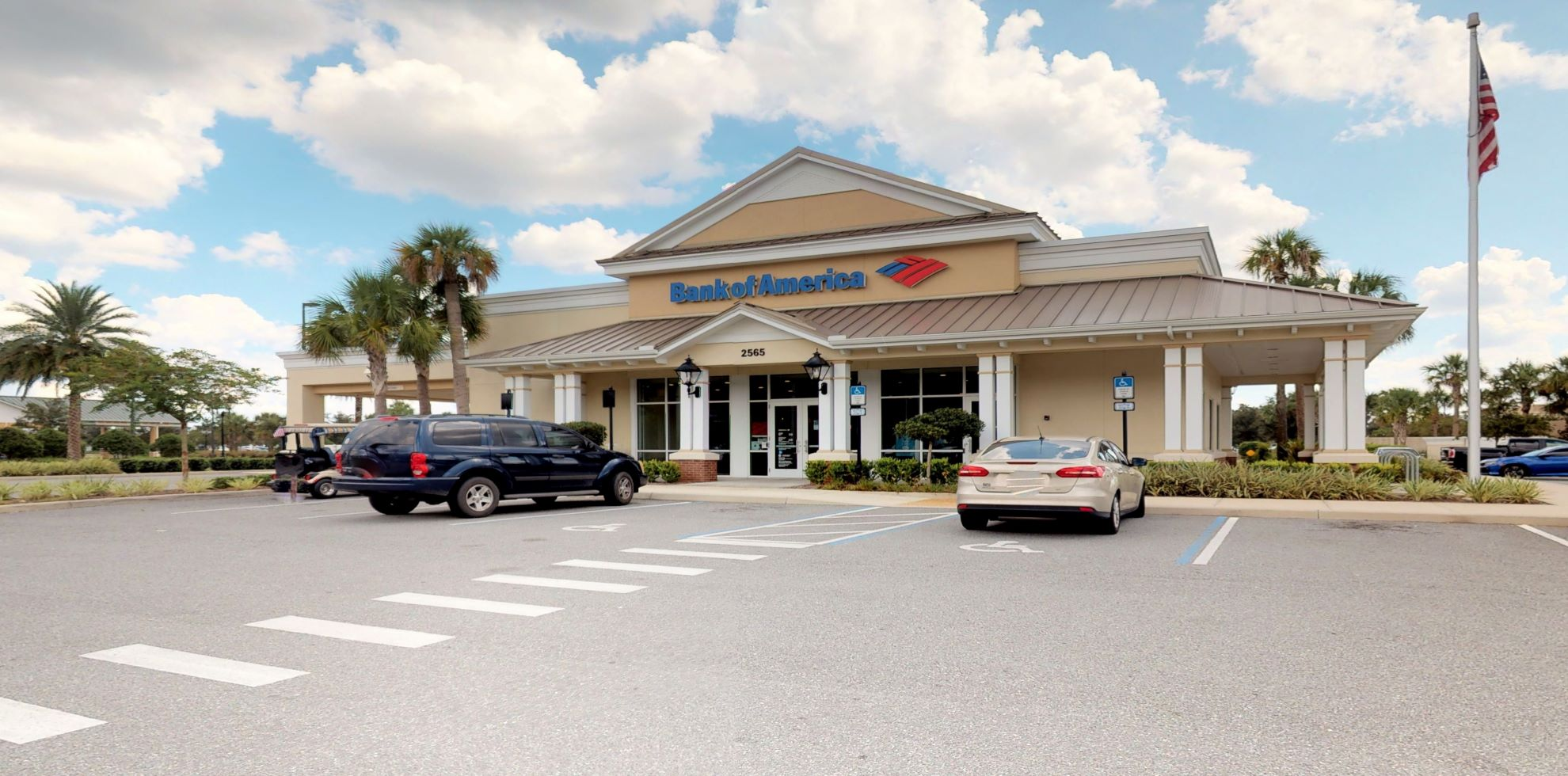 Bank of America financial center with drive-thru ATM   2565 Burnsed Blvd, The Villages, FL 32163