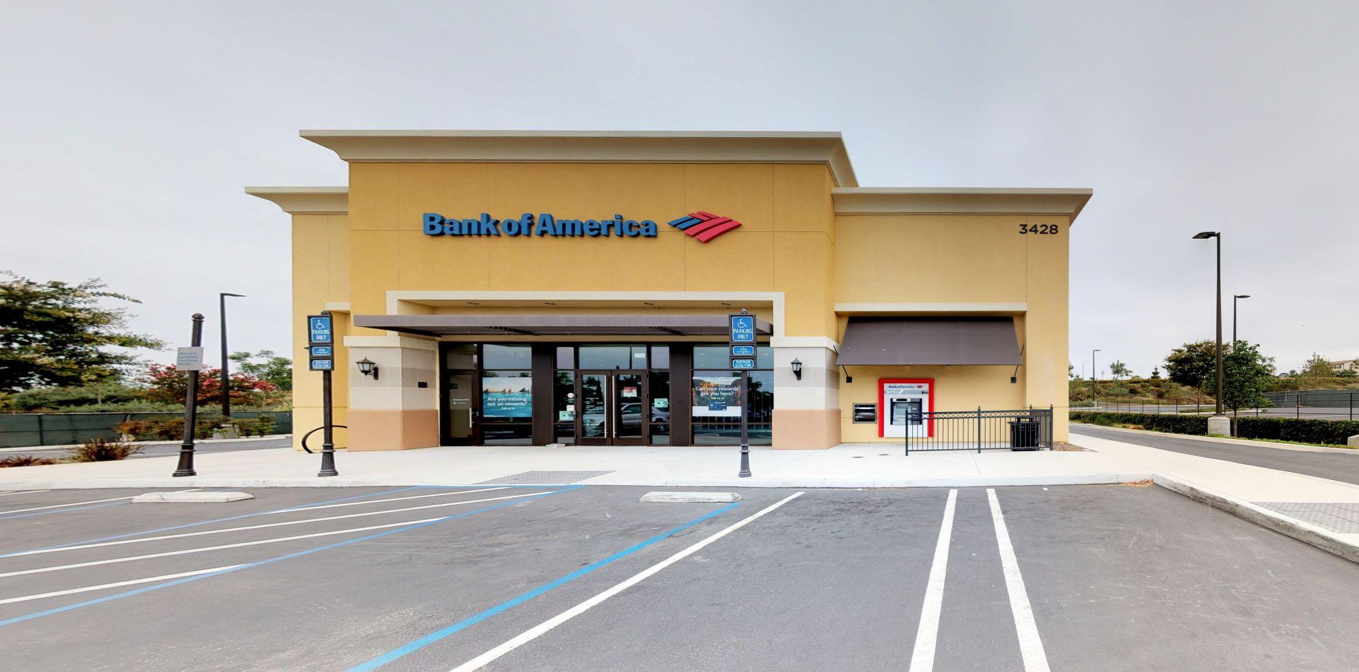 Bank of America financial center with drive-thru ATM | 3428 Via Mercato, Carlsbad, CA 92009