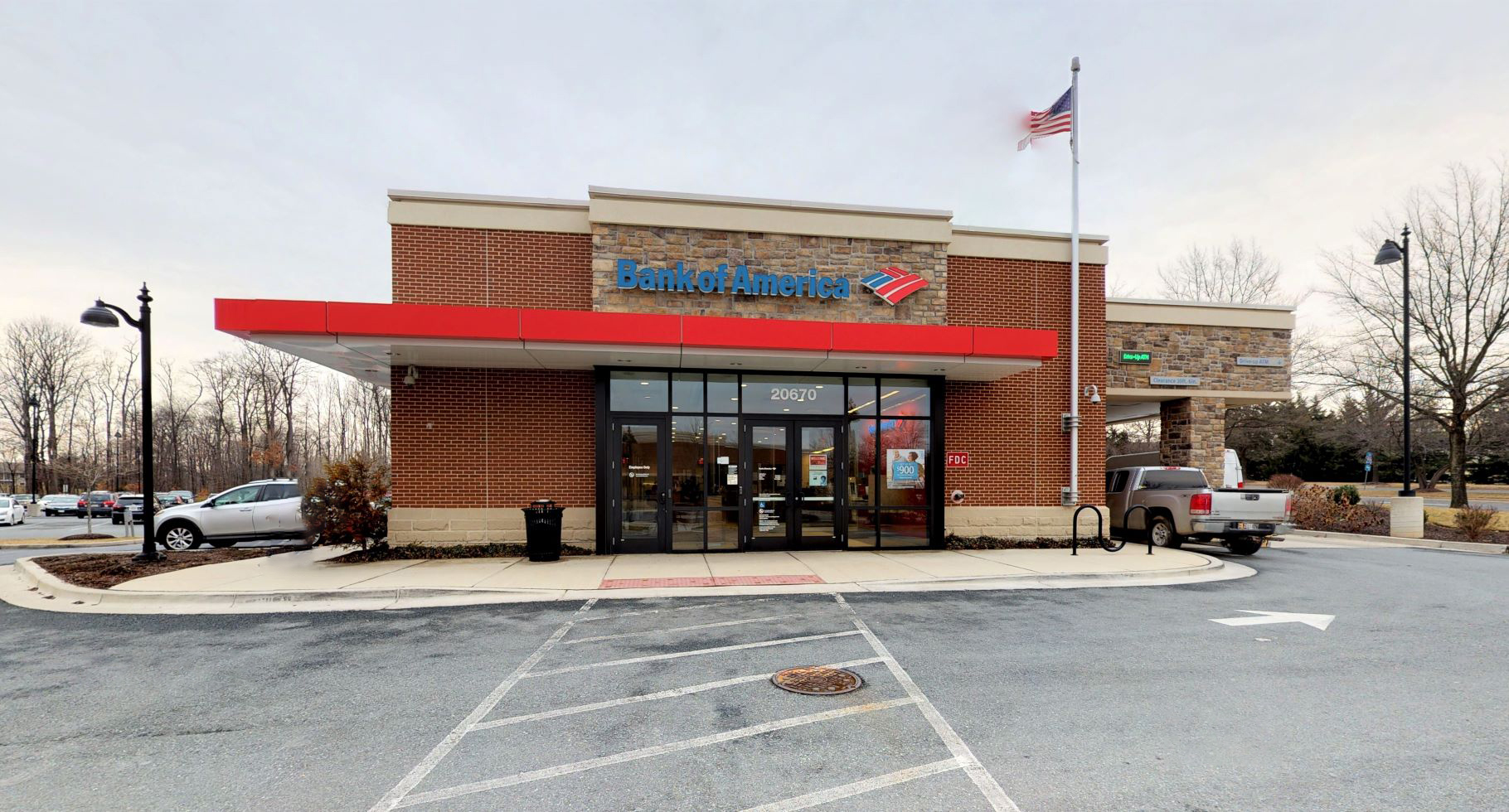 Bank of America financial center with drive-thru ATM | 20670 Seneca Meadows Pkwy, Germantown, MD 20876