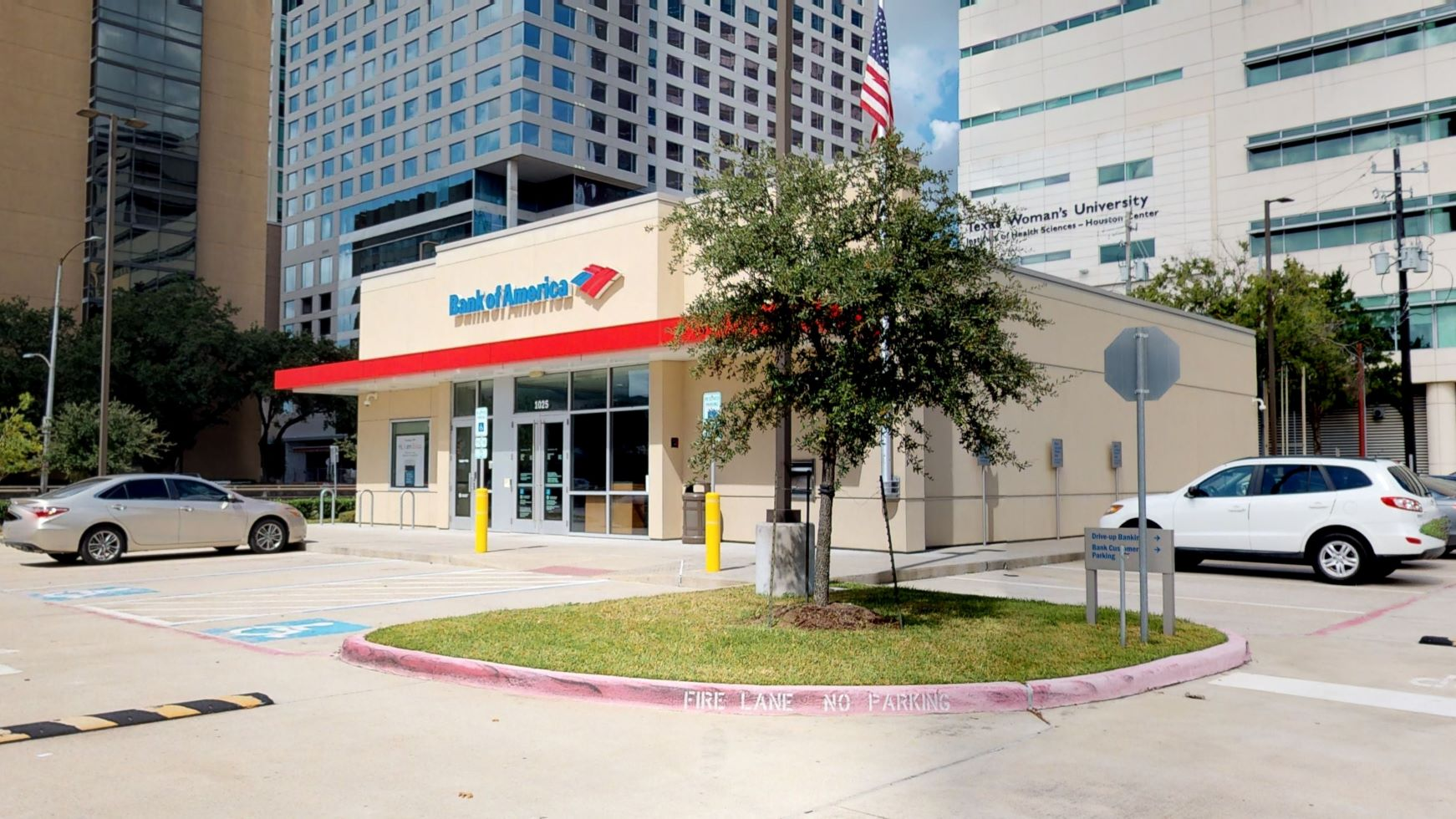 Bank of America financial center with drive-thru ATM | 1025 Holcombe Blvd, Houston, TX 77030