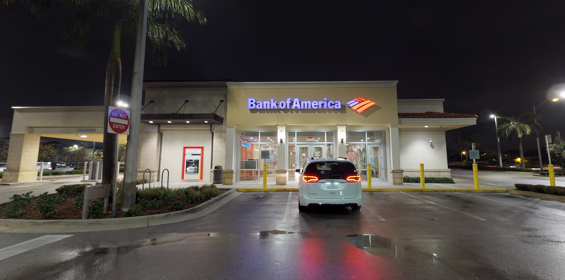 Bank of America financial center with drive-thru ATM   10081 W Flagler St, Miami, FL 33174