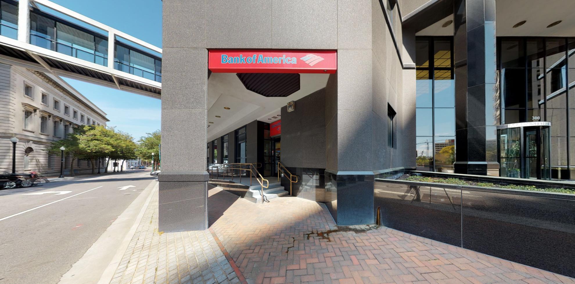 Bank of America financial center with drive-thru ATM   300 E Main St, Norfolk, VA 23510
