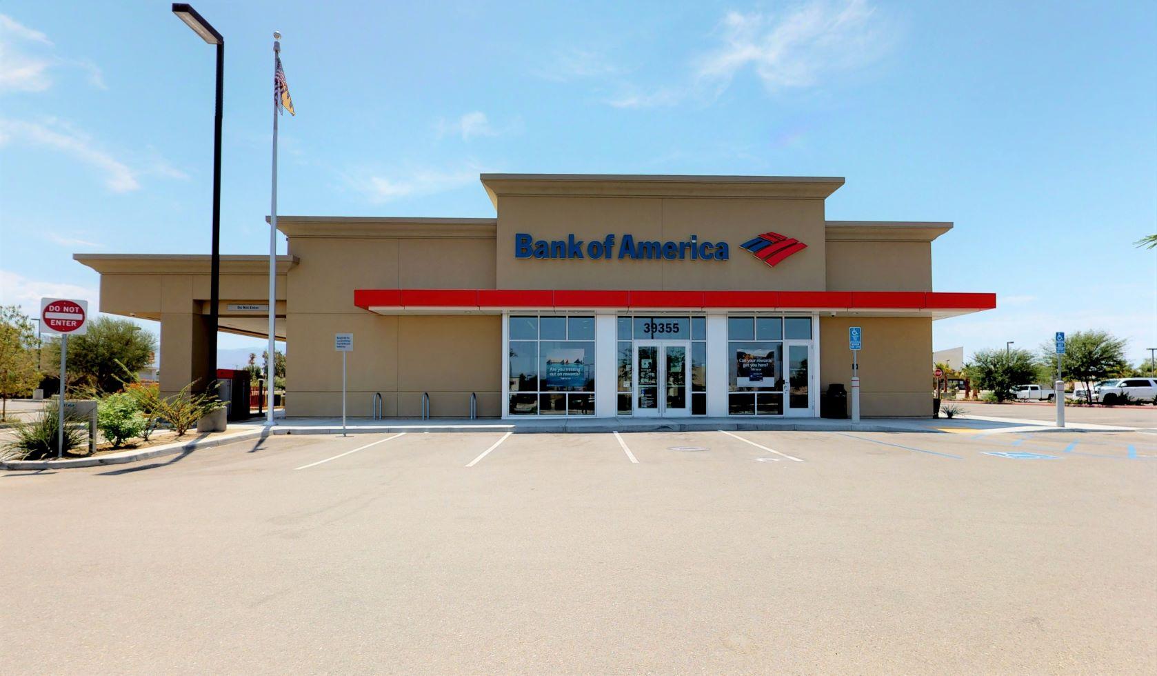 Bank of America financial center with drive-thru ATM   39355 Washington St, Palm Desert, CA 92211