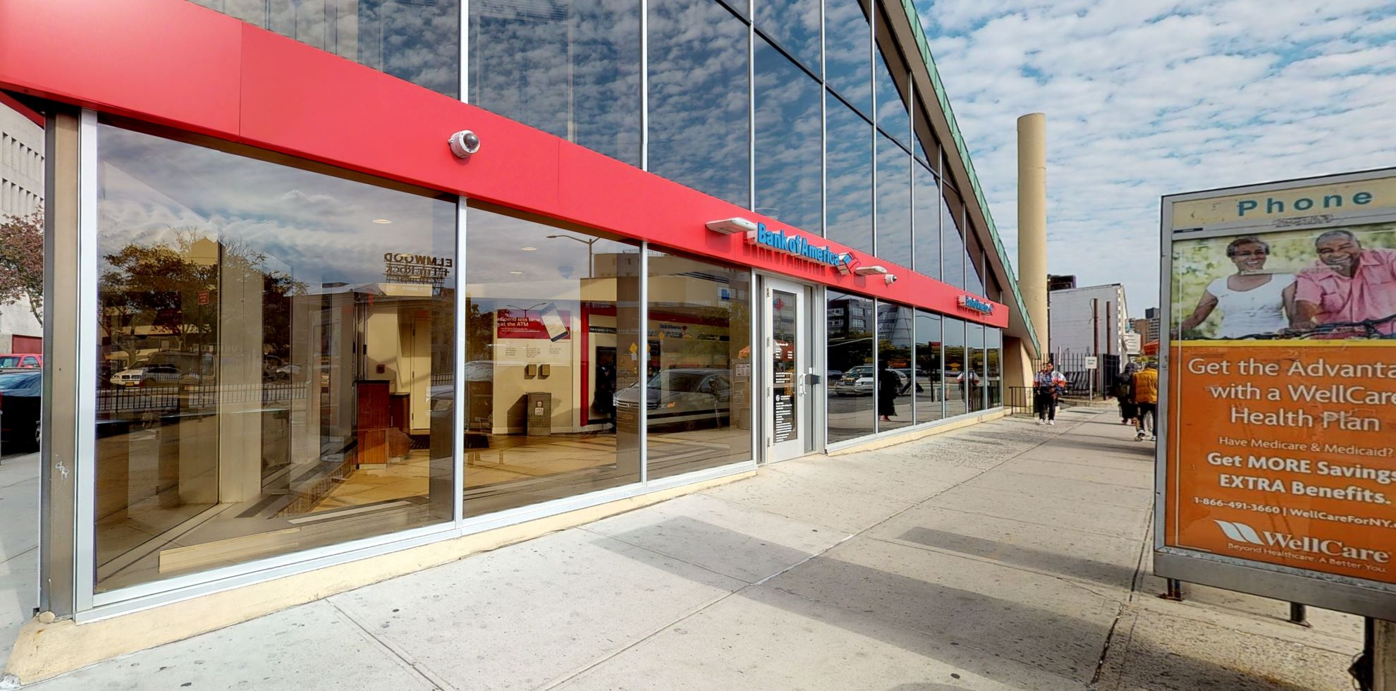 Bank of America financial center with walk-up ATM   8901 Queens Blvd, Elmhurst, NY 11373