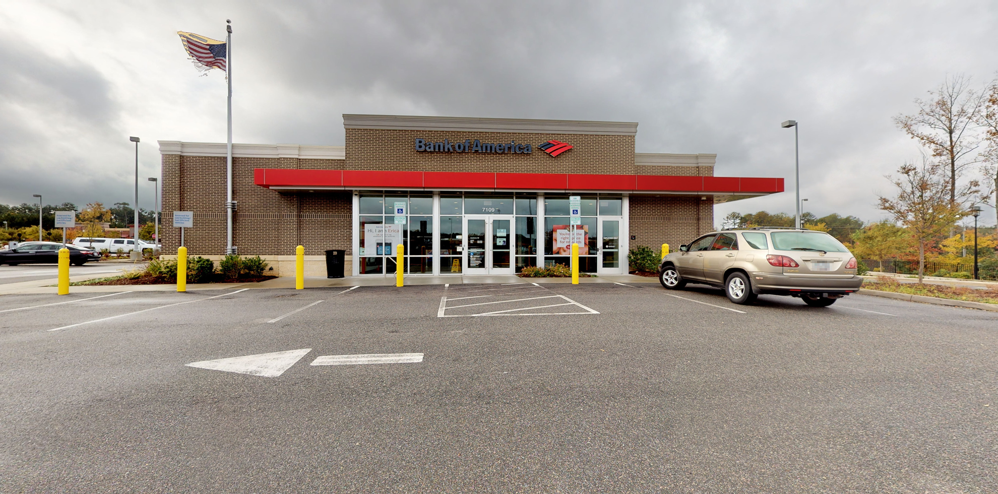 Bank of America financial center with drive-thru ATM | 7109 O'Kelly Chapel Rd, Cary, NC 27519