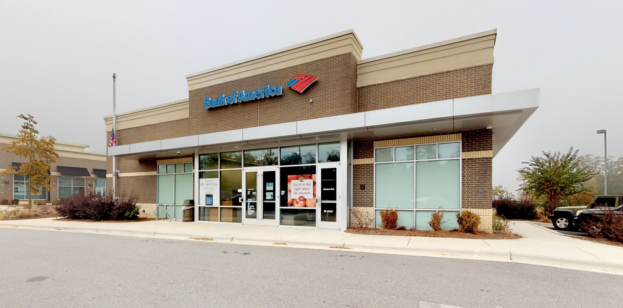 Bank of America financial center with drive-thru ATM | 195 Grand Hill Pl, Holly Springs, NC 27540