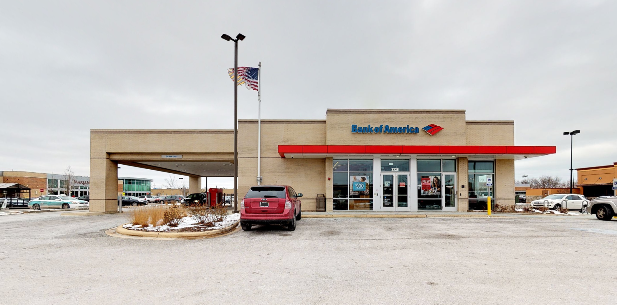 Bank of America financial center with drive-thru ATM   3328 W Touhy Ave, Skokie, IL 60076
