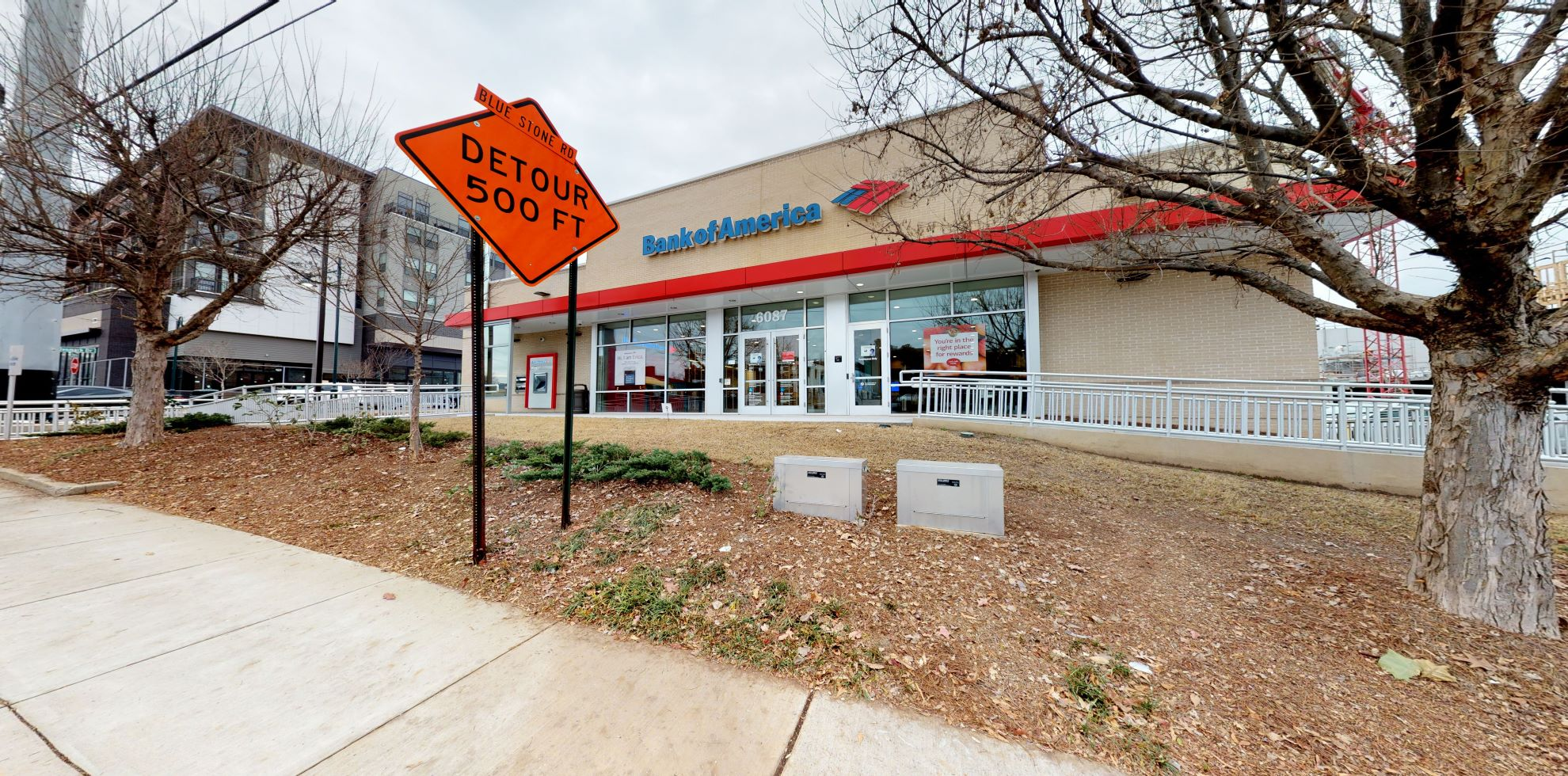 Bank of America financial center with drive-thru ATM   6087 Roswell Rd, Atlanta, GA 30328