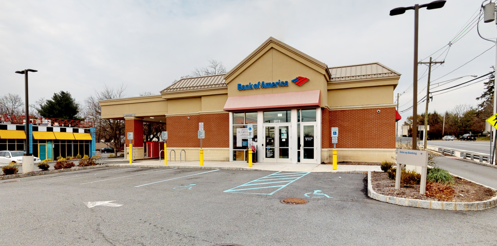 Bank of America financial center with drive-thru ATM   1072 Route 46, Parsippany, NJ 07054