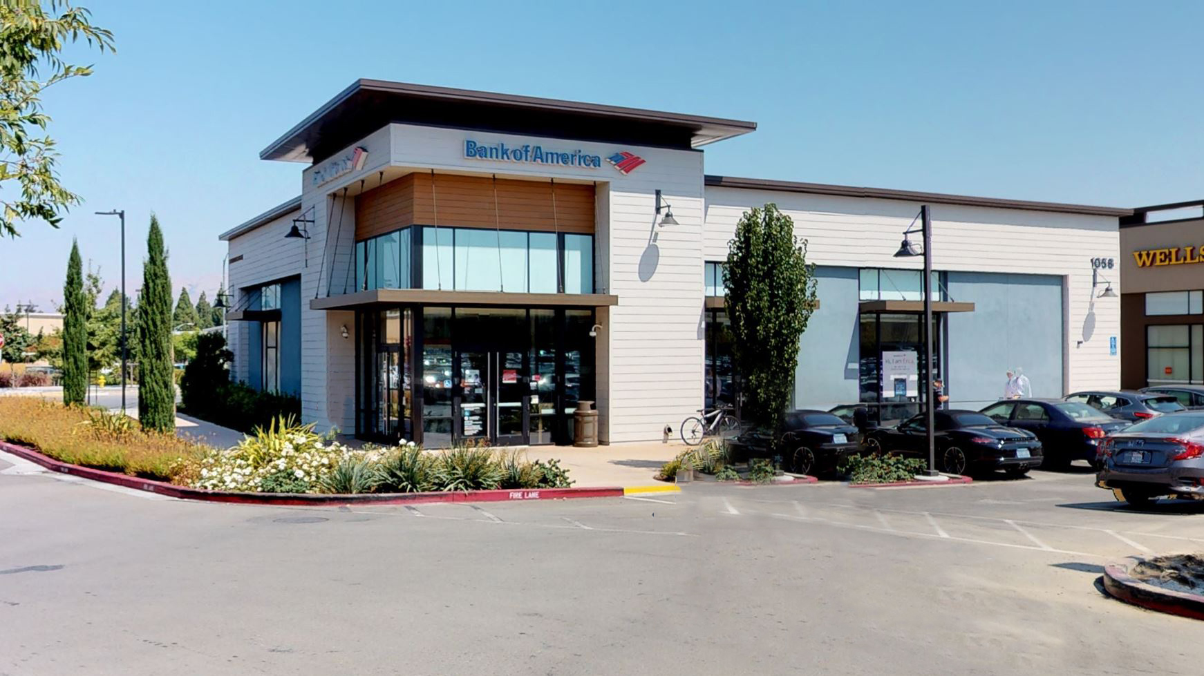 Bank of America financial center with walk-up ATM   1058 E Brokaw Rd, San Jose, CA 95131