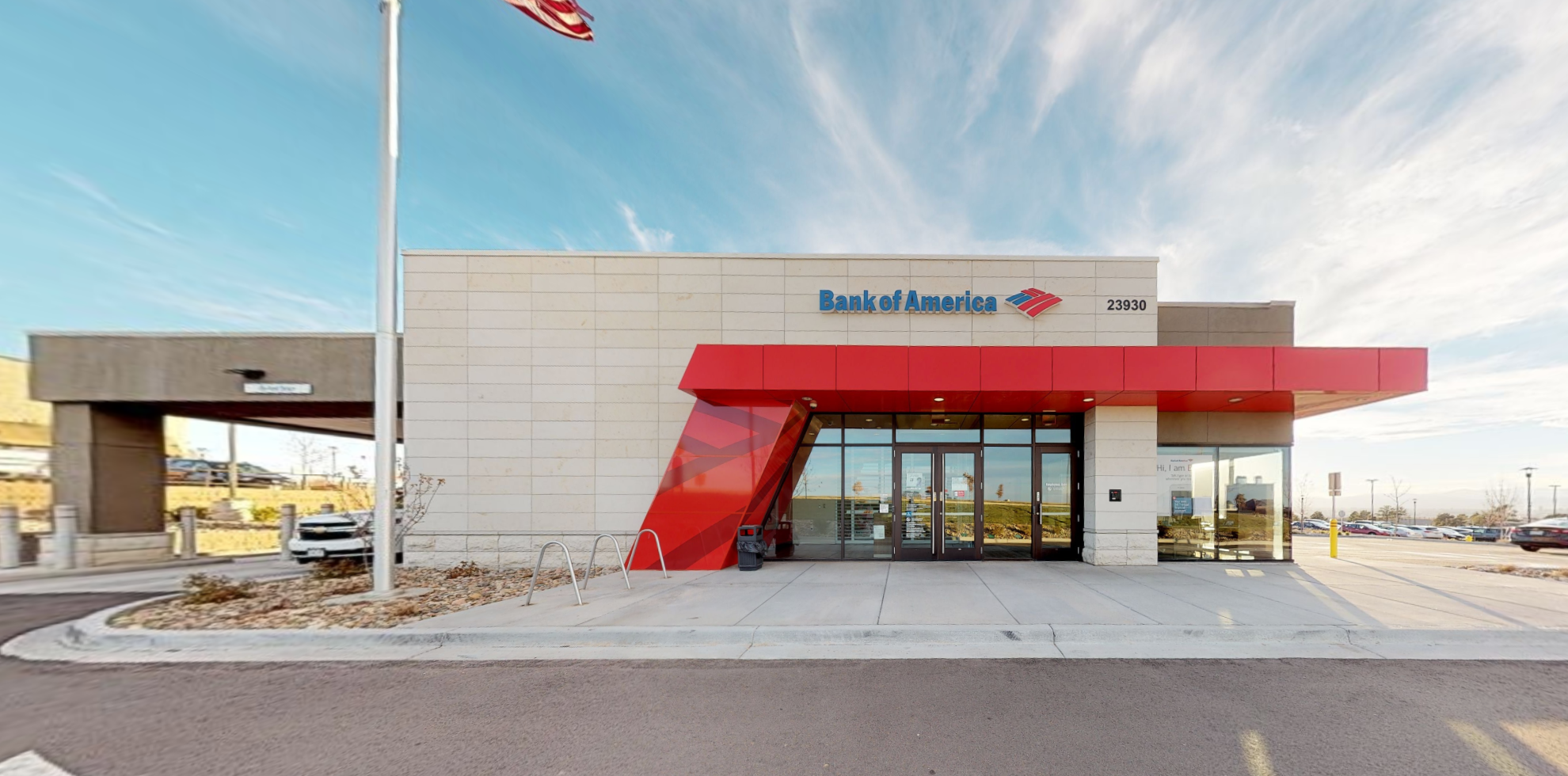 Bank of America financial center with drive-thru ATM   23930 E Smoky Hill Rd, Aurora, CO 80016