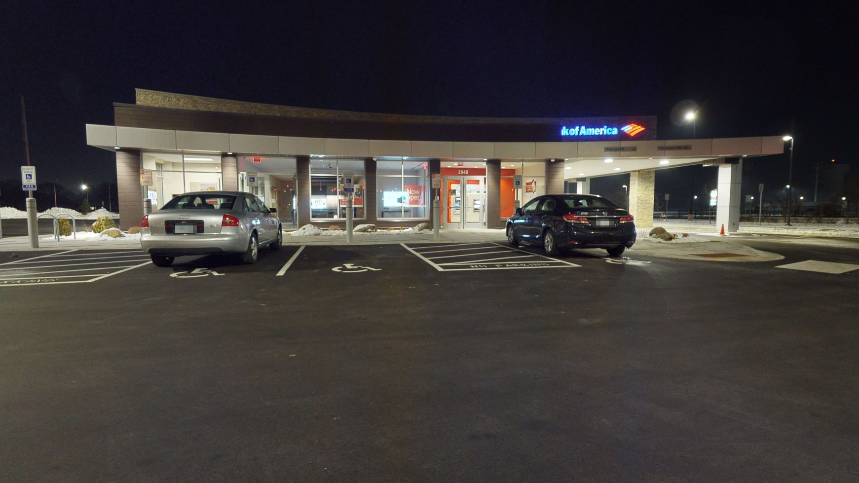 Bank of America financial center with drive-thru ATM   2545 County Road 10, Brooklyn Center, MN 55430