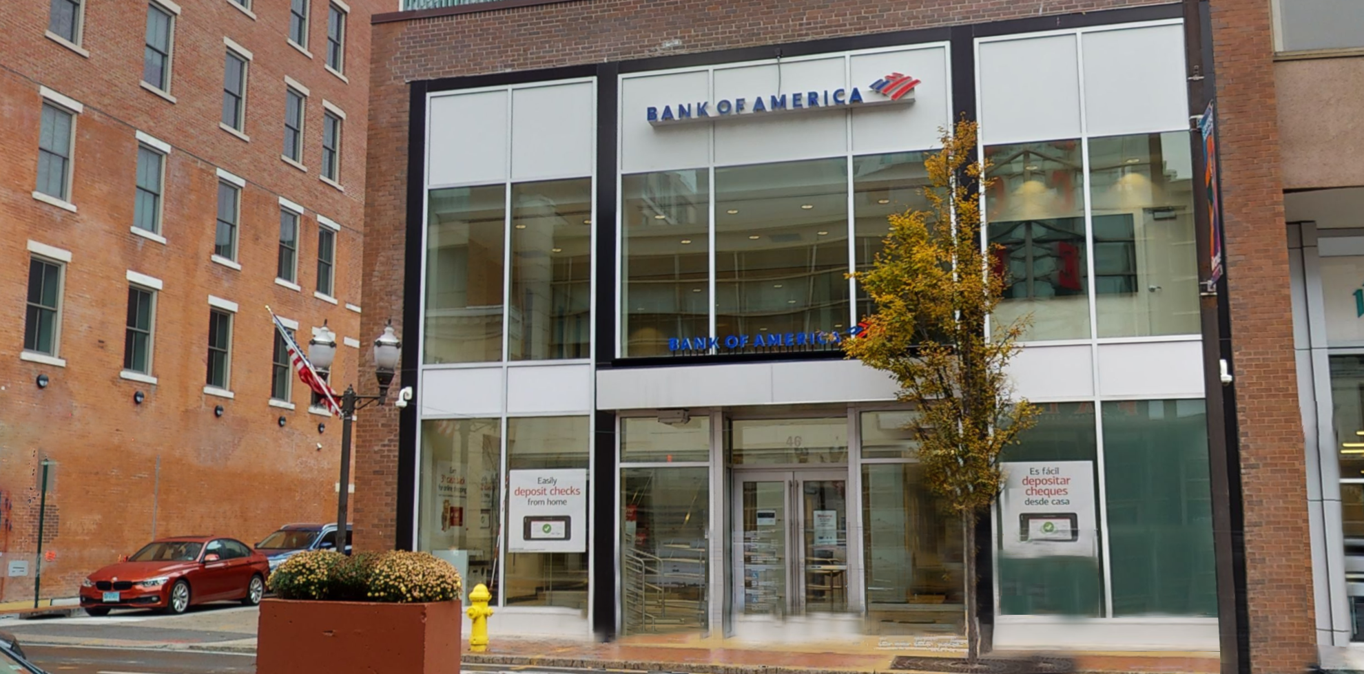 Bank of America financial center with walk-up ATM   46 Atlantic St, Stamford, CT 06901