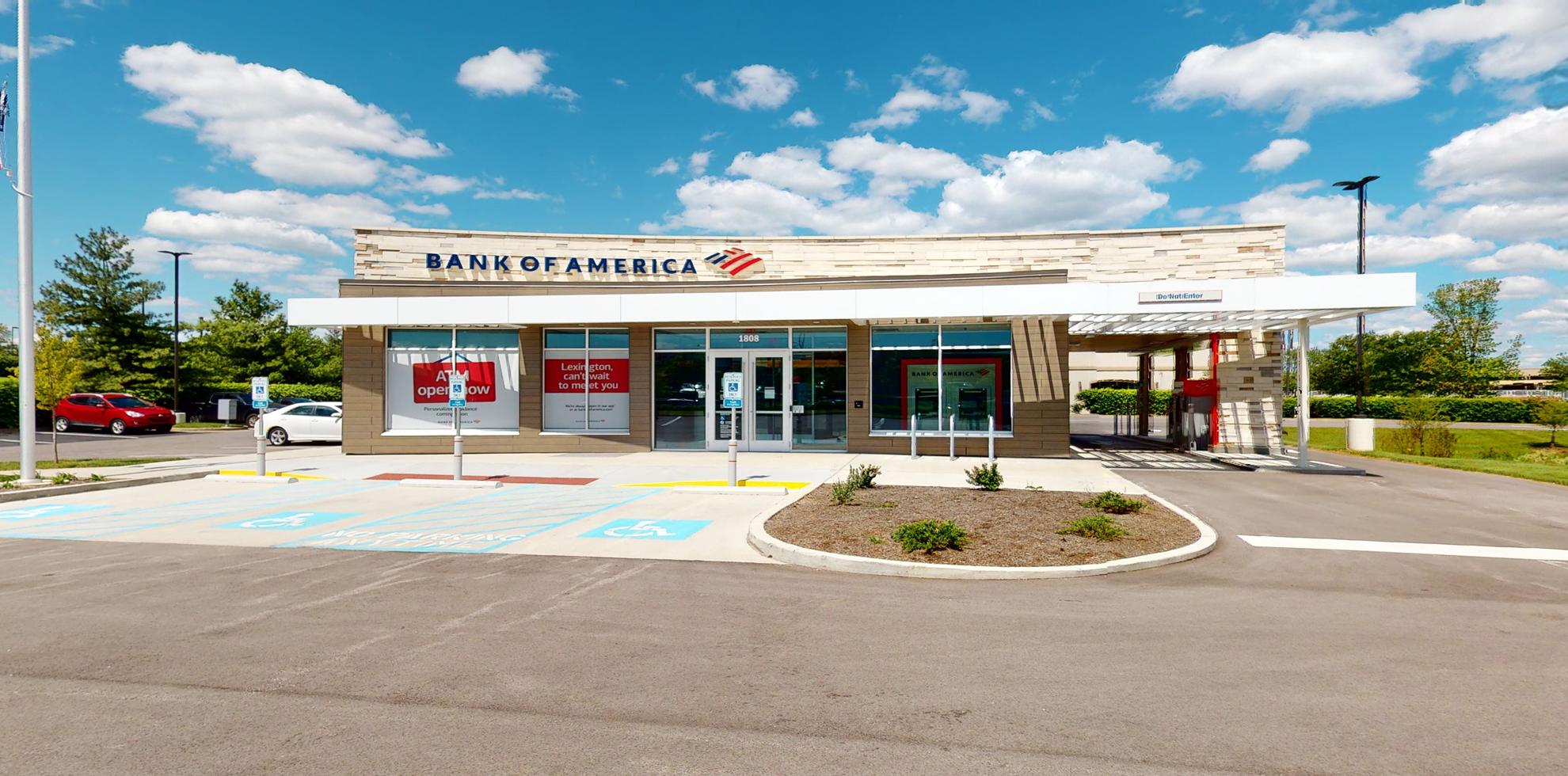Bank of America financial center with drive-thru ATM | 1808 Alysheba Way, Lexington, KY 40509