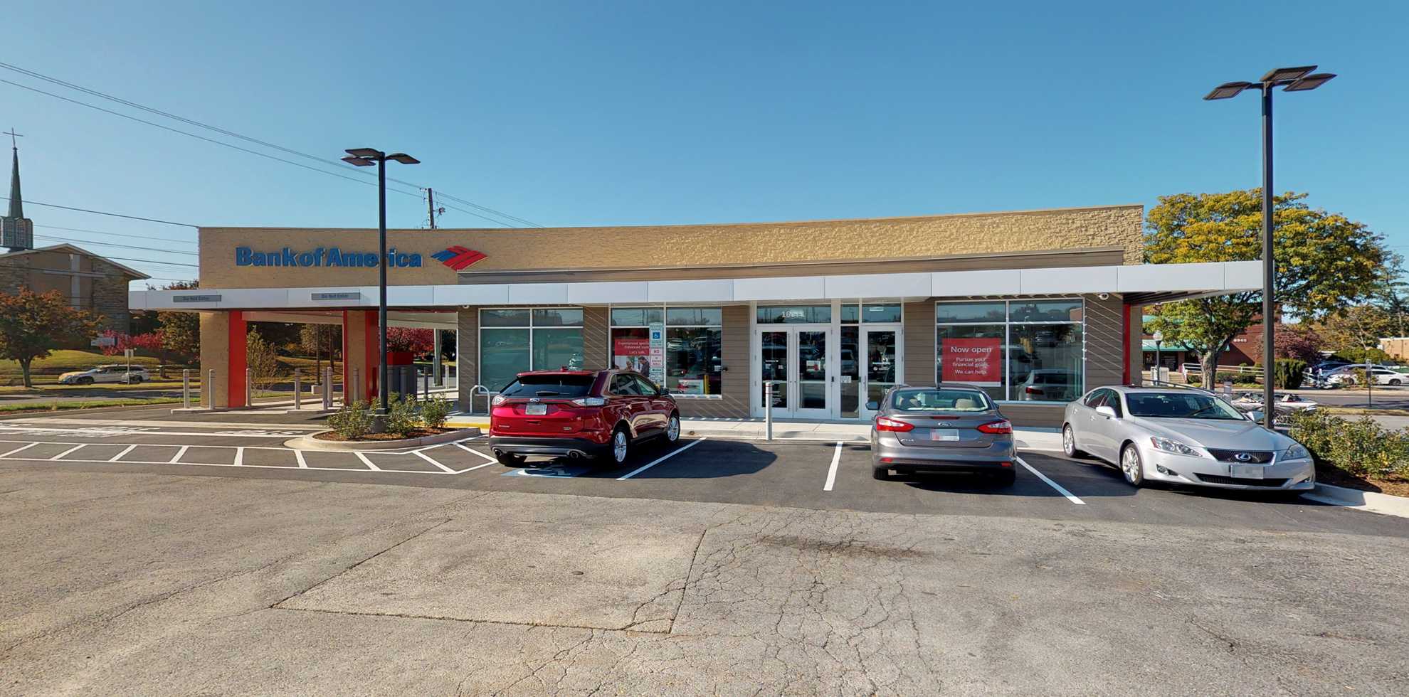 Bank of America financial center with drive-thru ATM | 16571 S Frederick Ave, Gaithersburg, MD 20877
