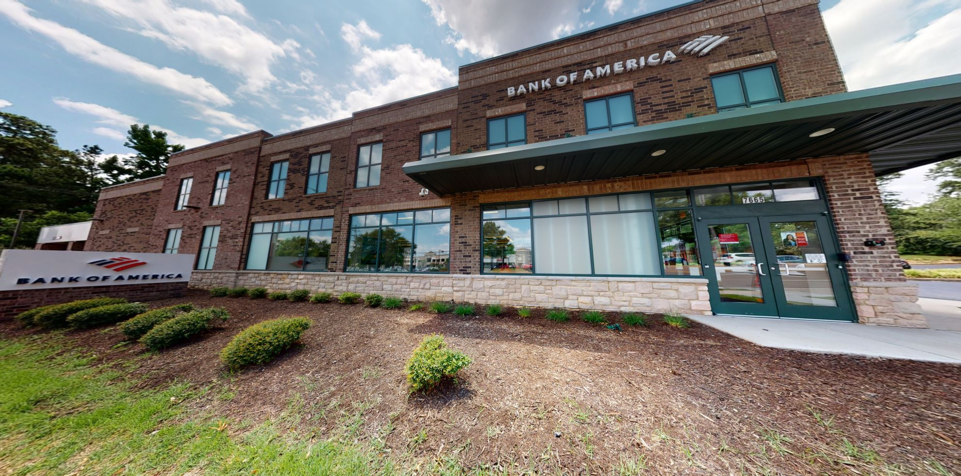 Bank of America financial center with drive-thru ATM   7665 Poplar Ave, Germantown, TN 38138