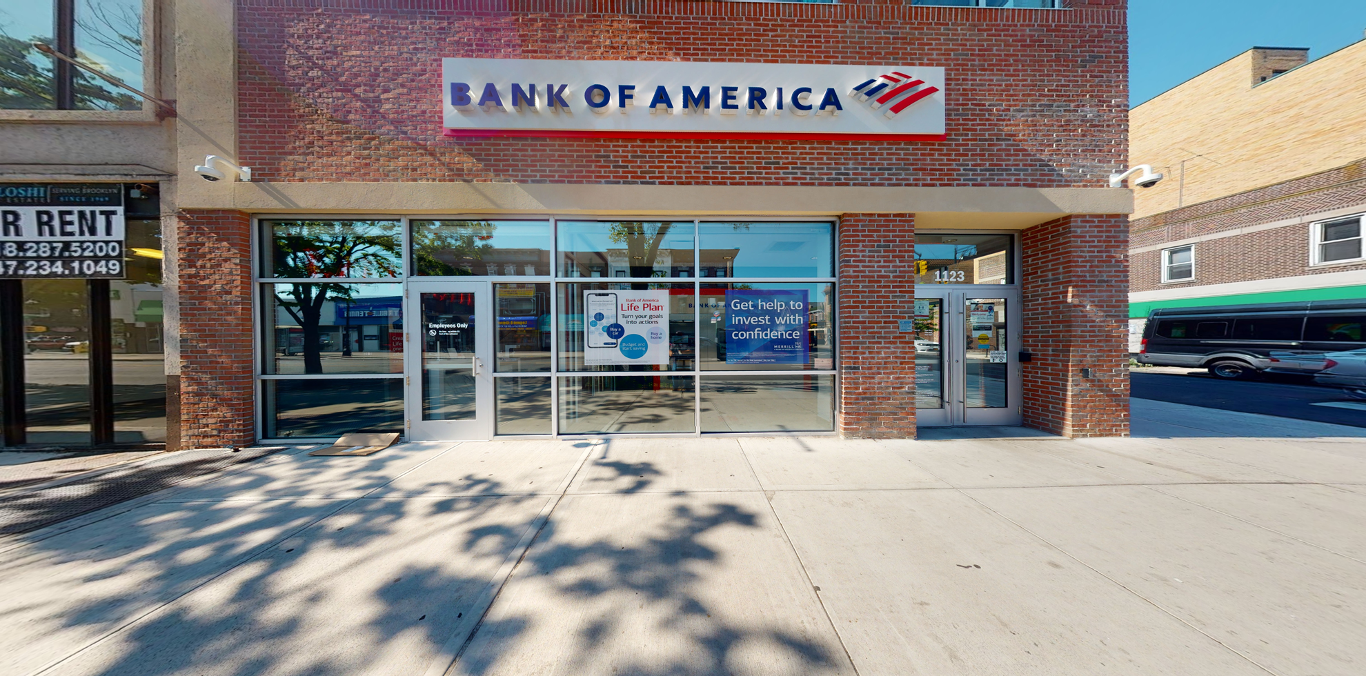 Bank of America financial center with walk-up ATM   1123 Avenue J, Brooklyn, NY 11230