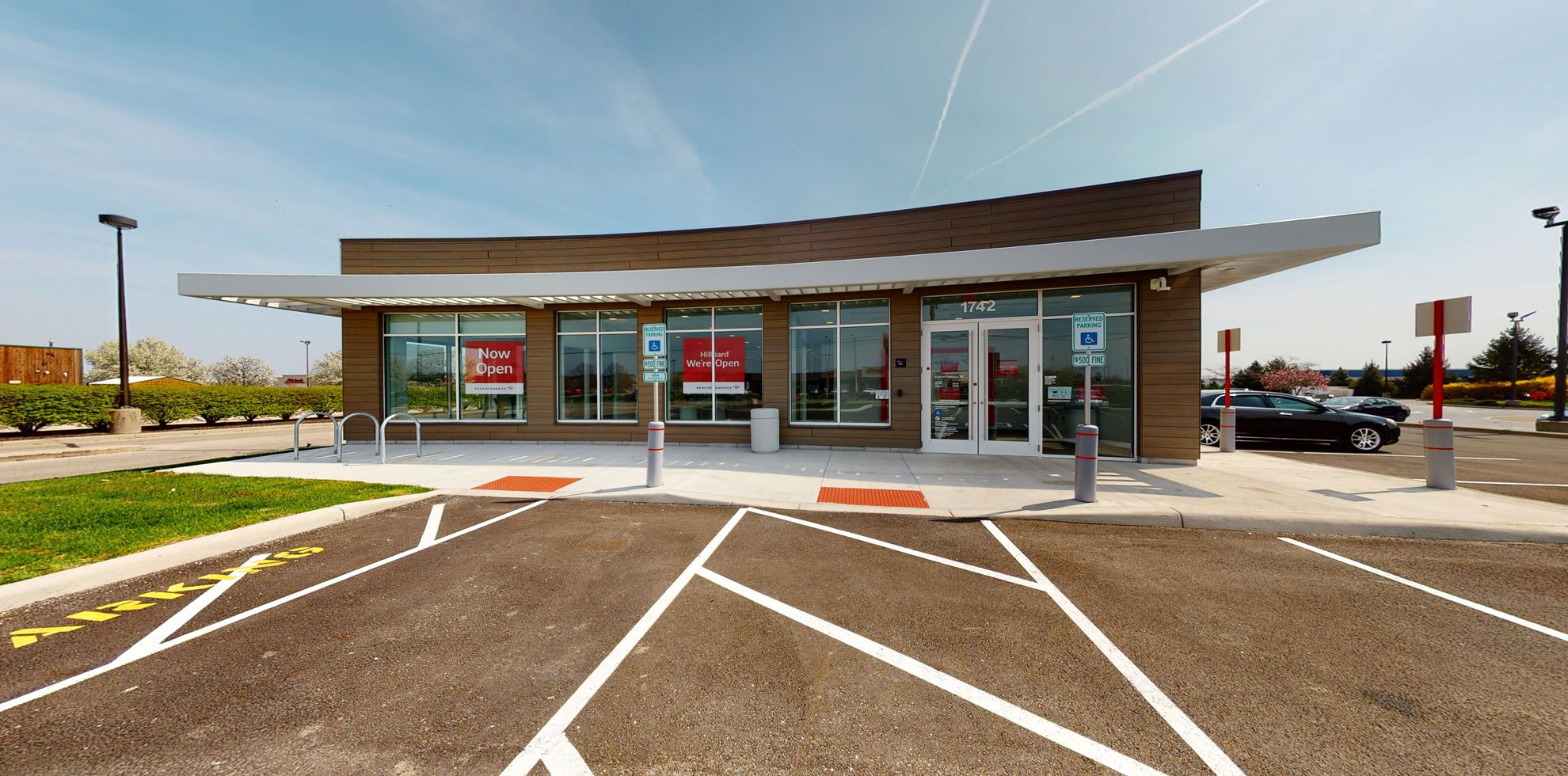 Bank of America financial center with drive-thru ATM   1742 Hilliard and Rome Rd, Hilliard, OH 43026