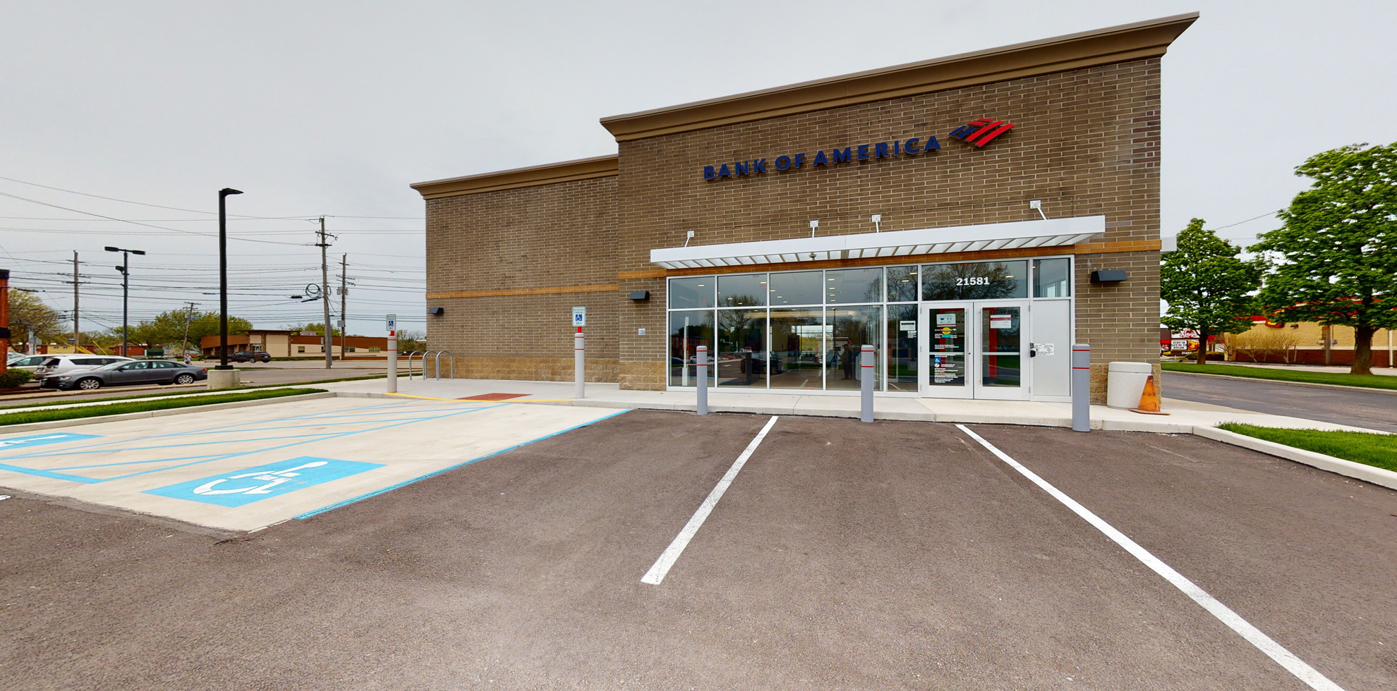 Bank of America financial center with drive-thru ATM   21581 Center Ridge Rd, Rocky River, OH 44116