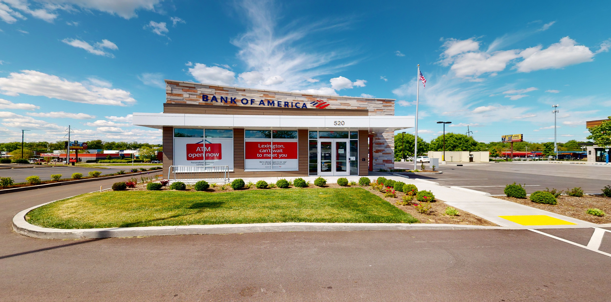 Bank of America financial center with drive-thru ATM   520 W New Circle Rd, Lexington, KY 40511
