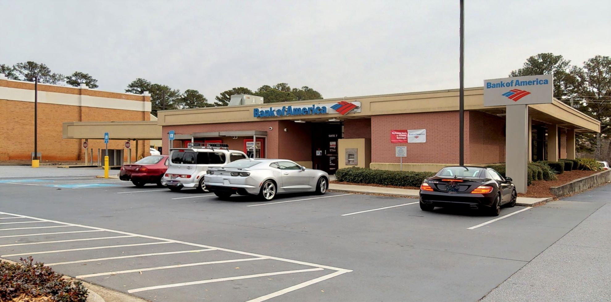 Bank of America financial center with drive-thru ATM   196 Alps Rd, Athens, GA 30606