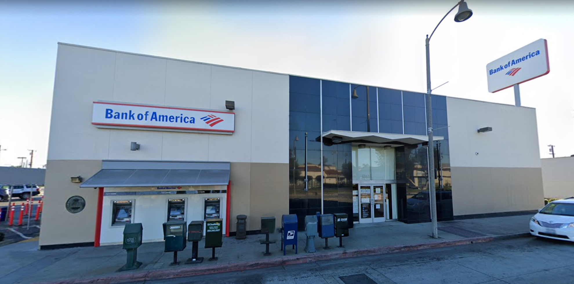 Bank of America financial center with drive-thru ATM | 6312 Atlantic Ave, Bell, CA 90201