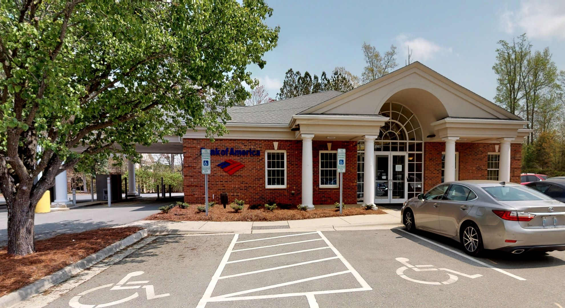 Bank of America financial center with drive-thru ATM | 1001 Saint Charles Pl, Cary, NC 27513