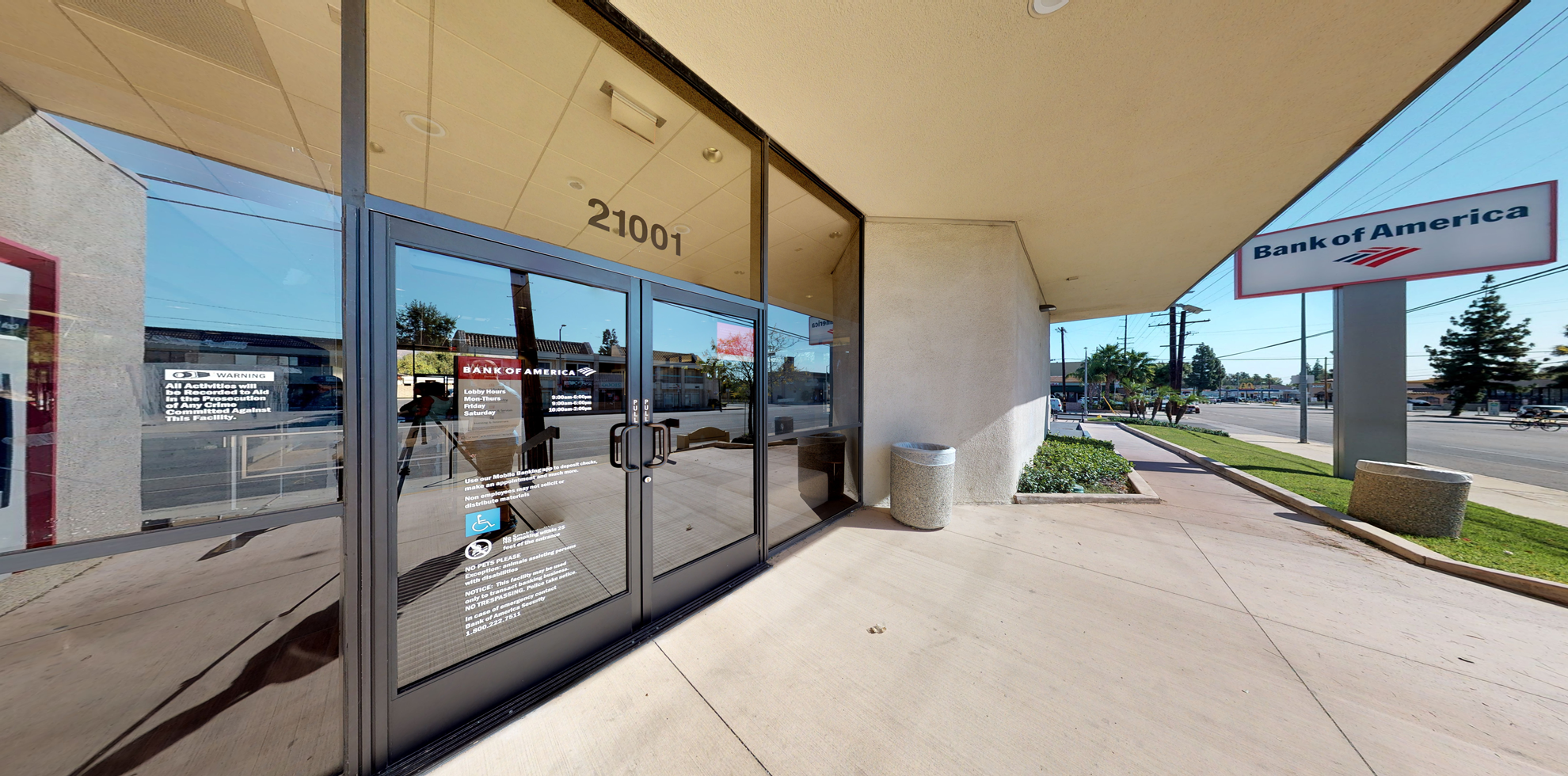 Bank of America financial center with drive-thru ATM   21001 Devonshire St, Chatsworth, CA 91311