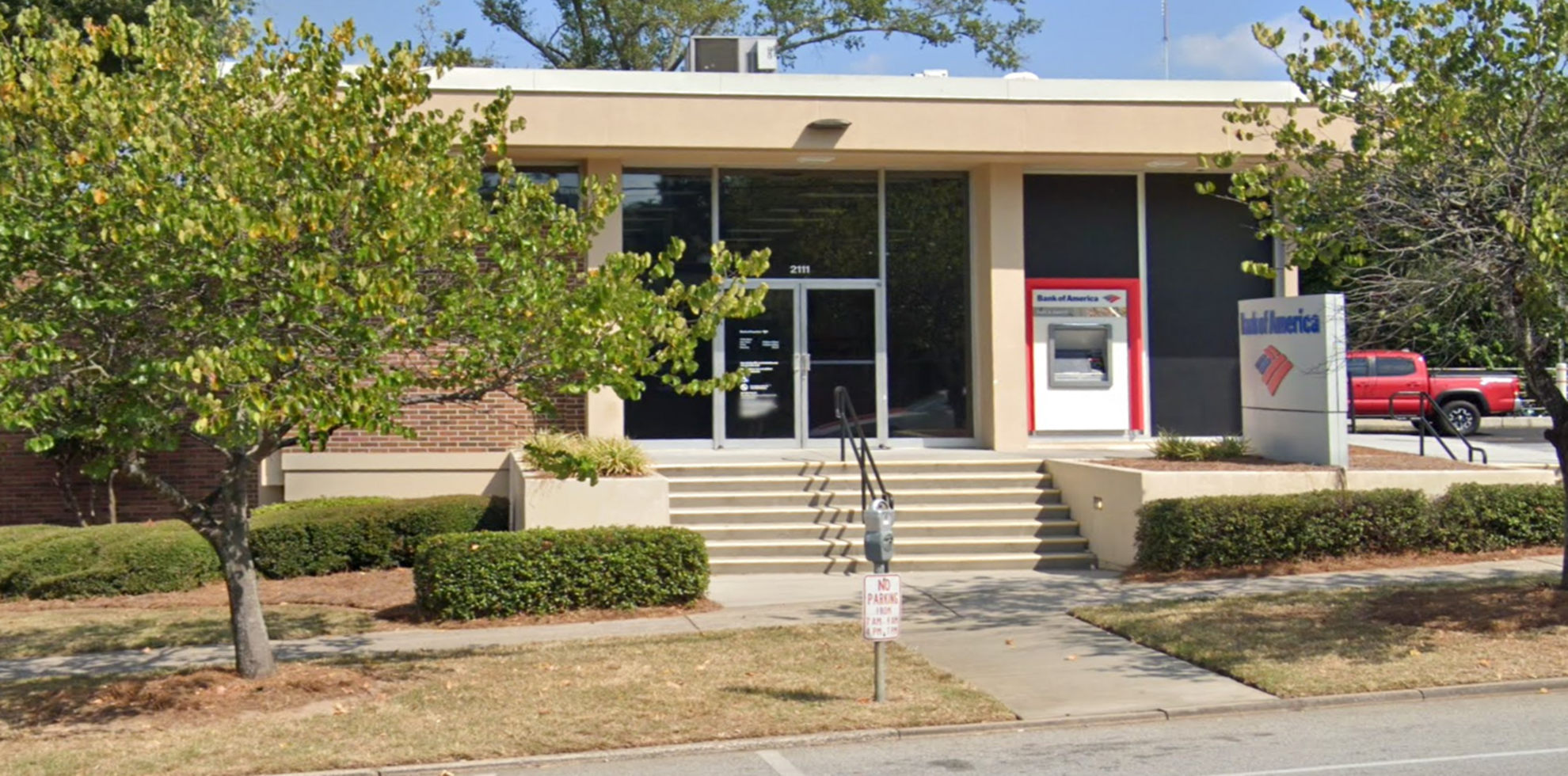 Bank of America financial center with drive-thru ATM   2111 Devine St, Columbia, SC 29205