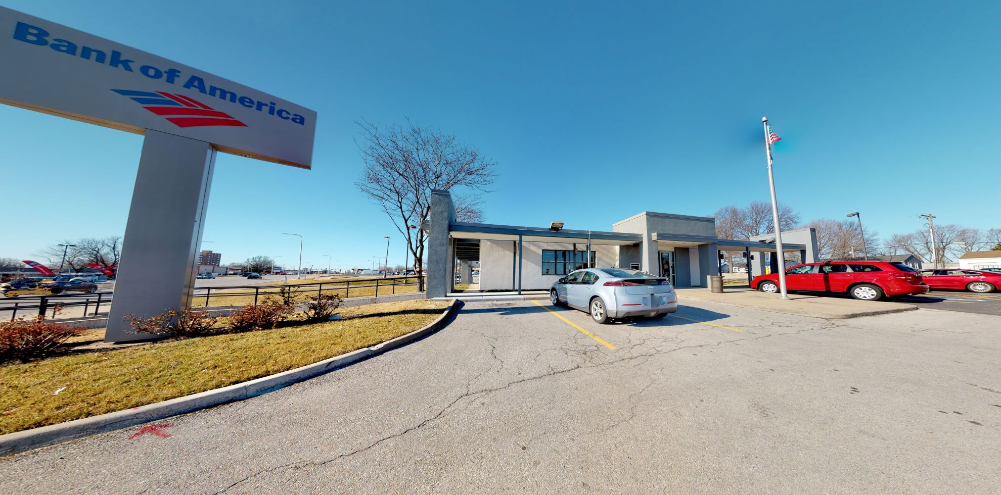 Bank of America financial center with drive-thru ATM   17410 E Highway 24, Independence, MO 64056