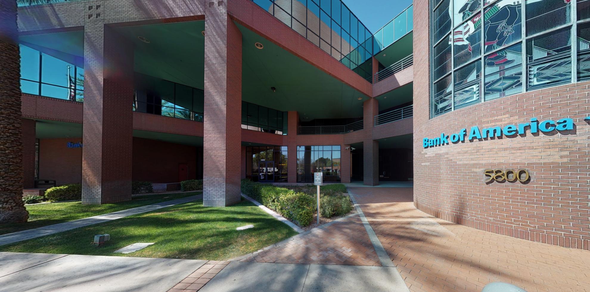 Bank of America financial center with drive-thru ATM | 5800 W Glenn Dr, Glendale, AZ 85301