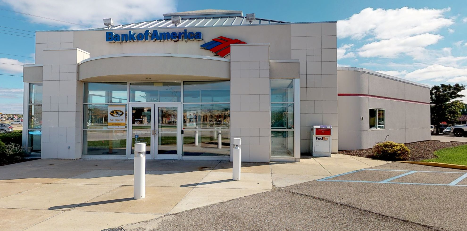 Bank of America financial center with drive-thru ATM   3701 S Providence Rd, Columbia, MO 65203