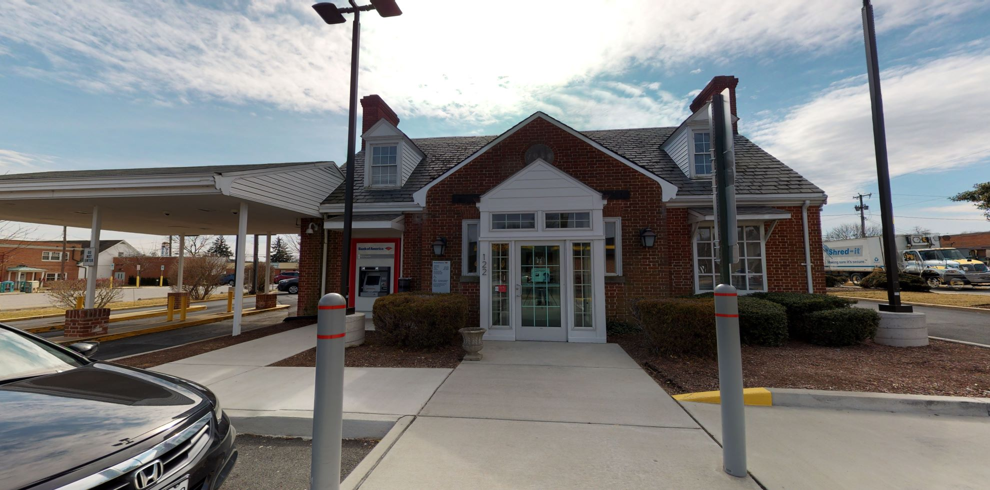 Bank of America financial center with drive-thru ATM | 122 W Bel Air Ave, Aberdeen, MD 21001