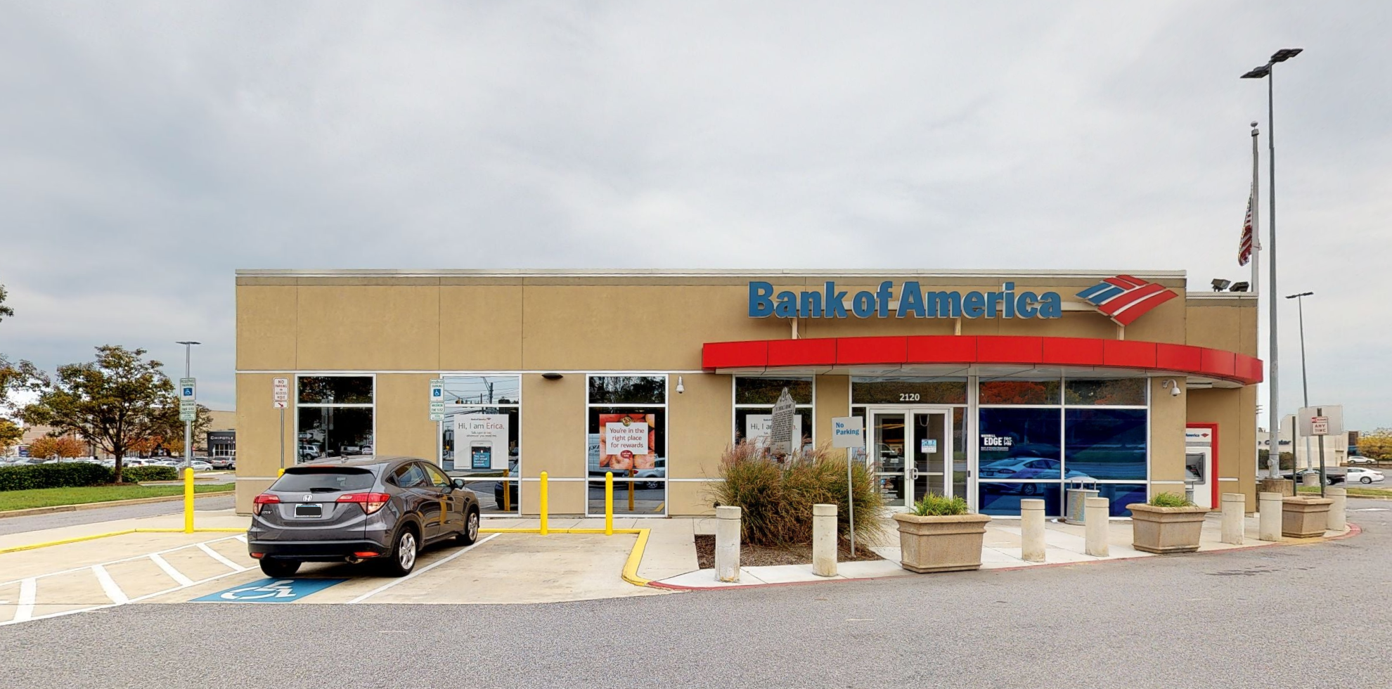 Bank of America financial center with drive-thru ATM | 2120 West St, Annapolis, MD 21401