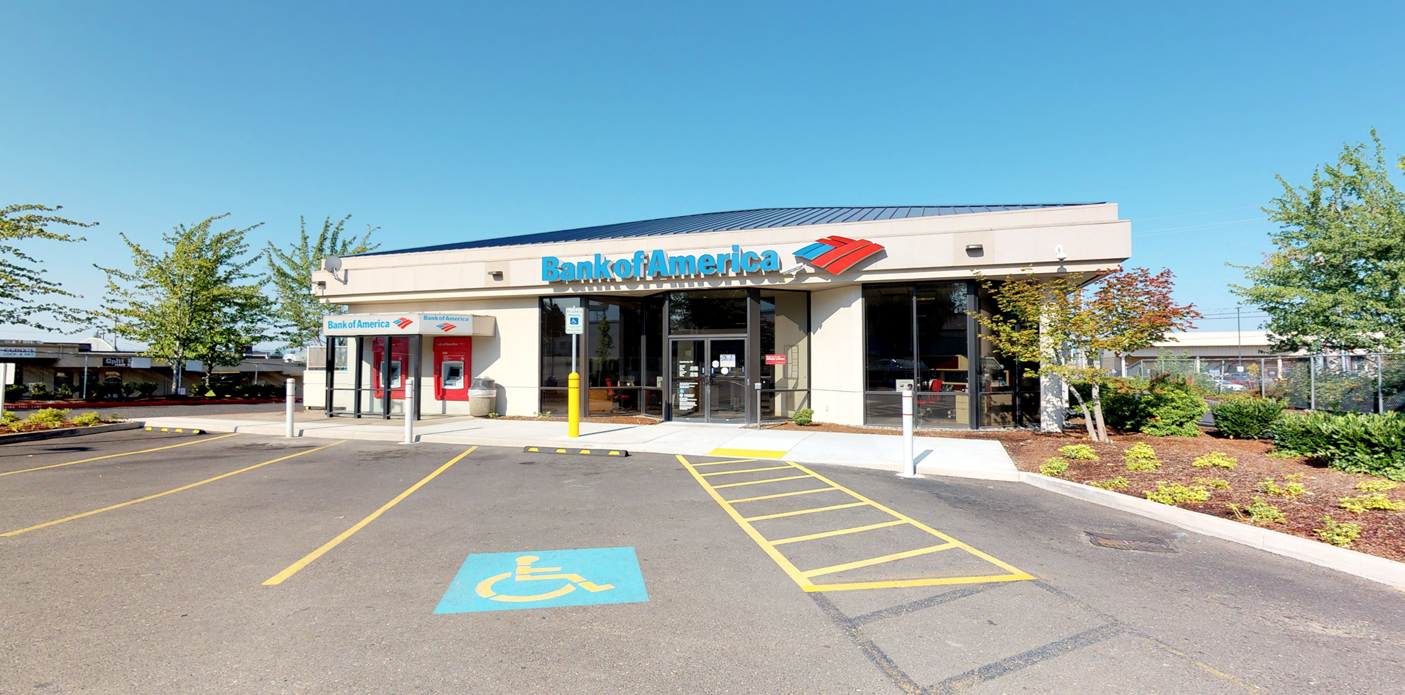 Bank of America financial center with drive-thru ATM   7407 NE Highway 99, Vancouver, WA 98665
