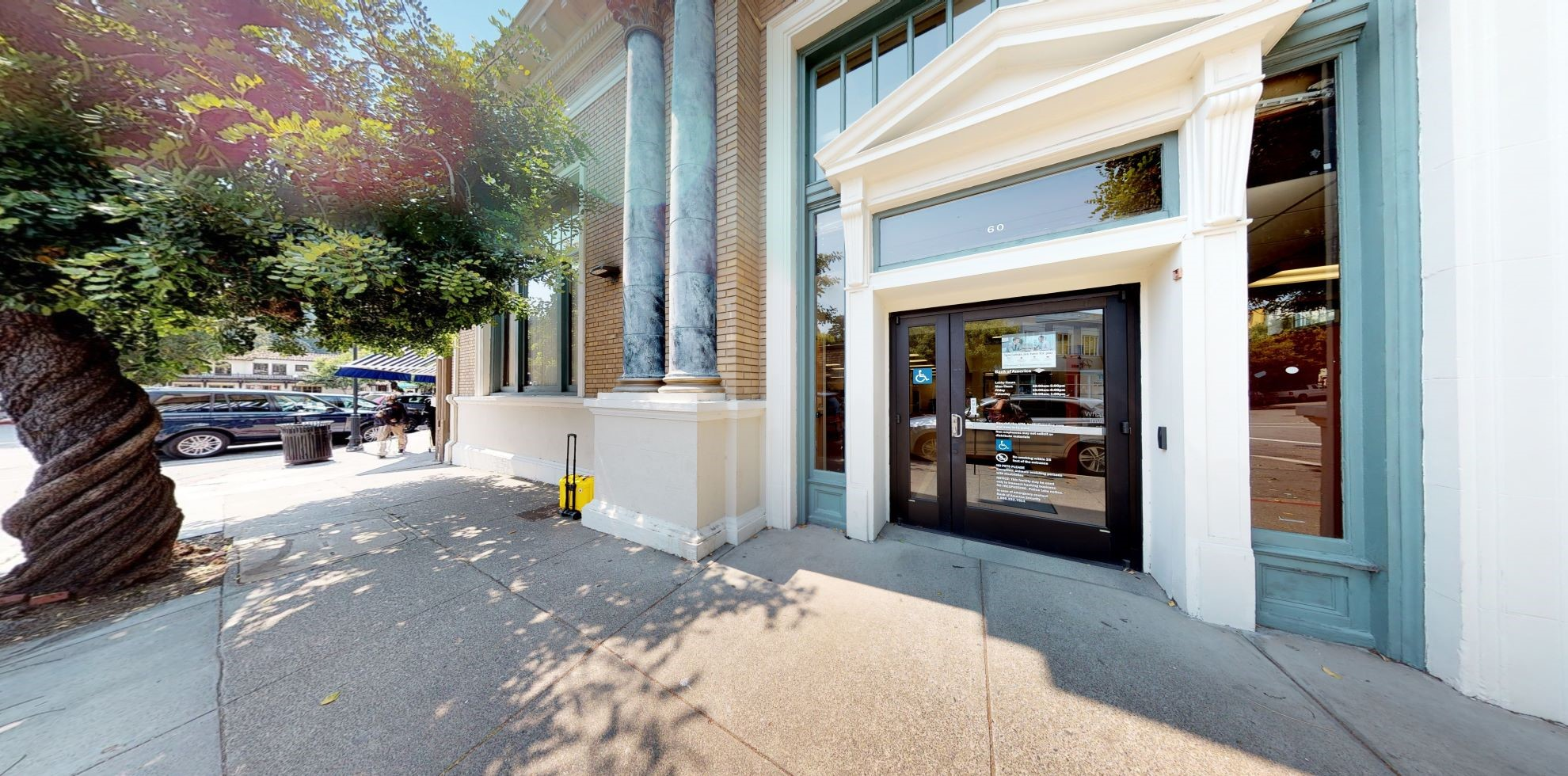 Bank of America financial center with walk-up ATM   60 Throckmorton Ave, Mill Valley, CA 94941