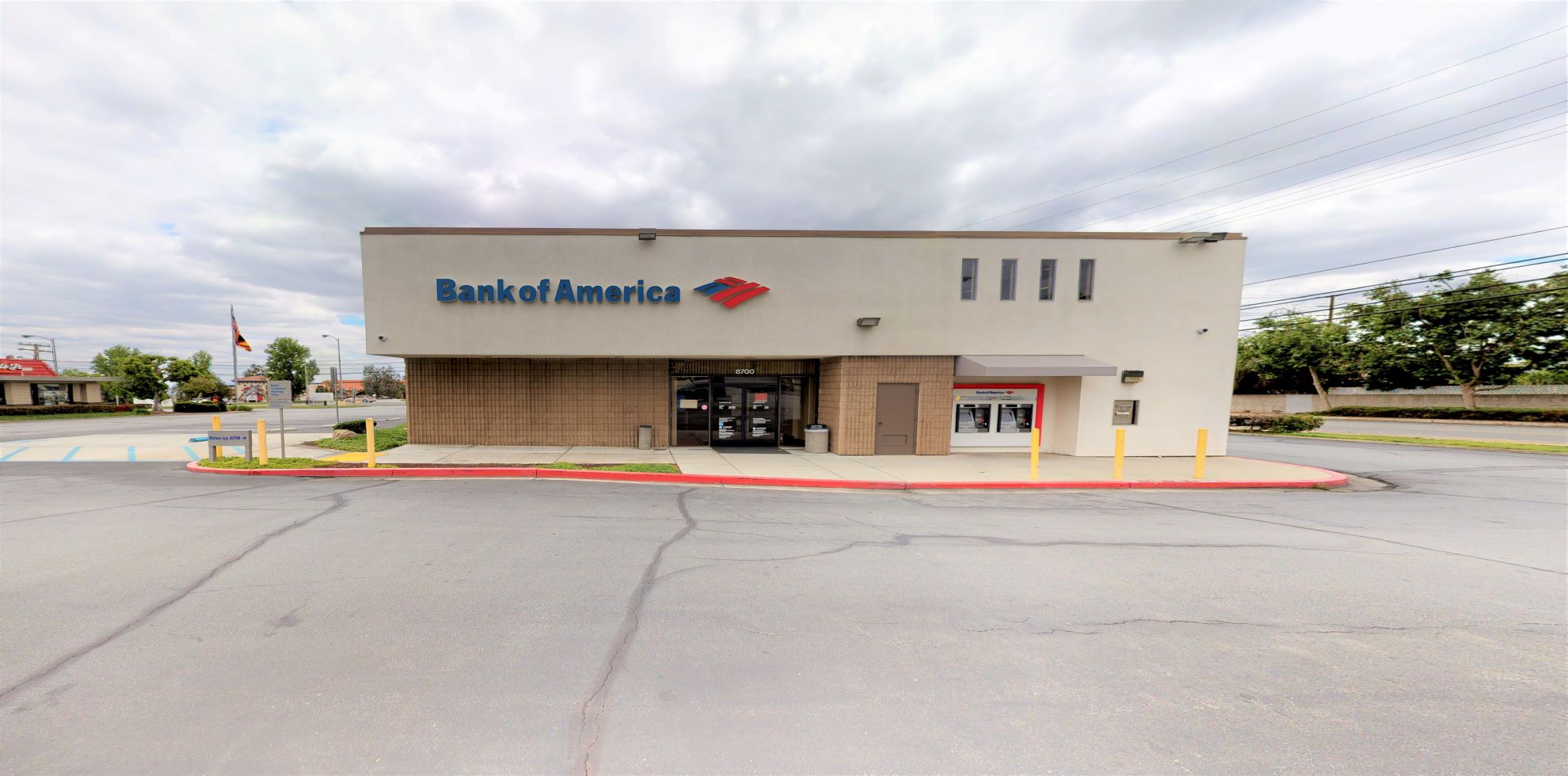 Bank of America financial center with drive-thru ATM   8700 Baseline Rd, Alta Loma, CA 91701