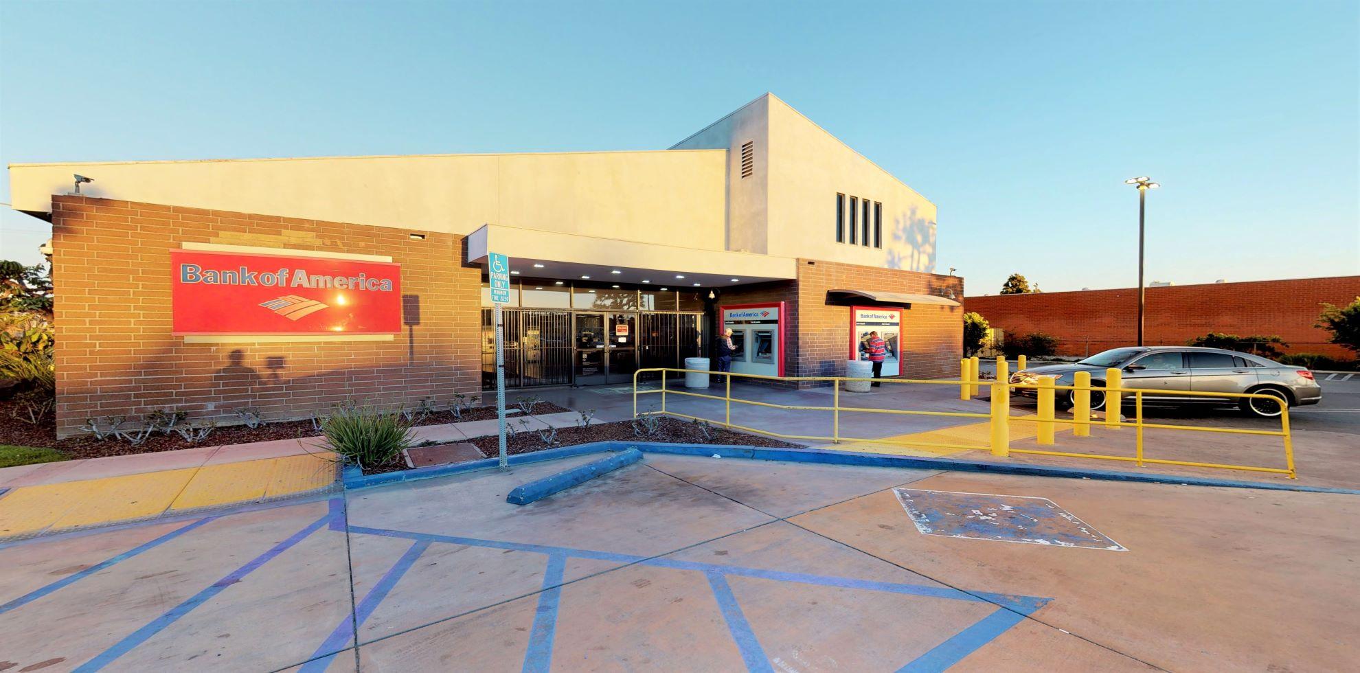 Bank of America financial center with walk-up ATM   118 W Rosecrans Ave, Gardena, CA 90248