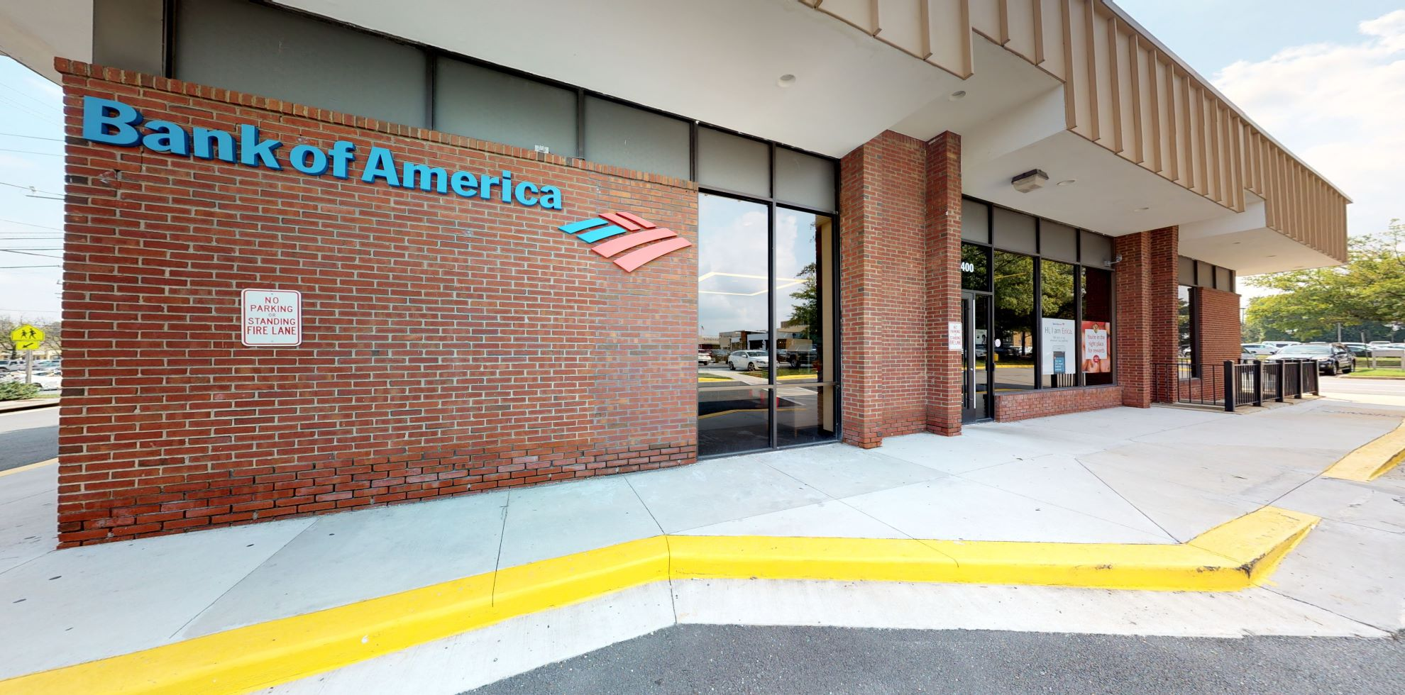 Bank of America financial center with drive-thru ATM   10400 Old Georgetown Rd, Bethesda, MD 20814