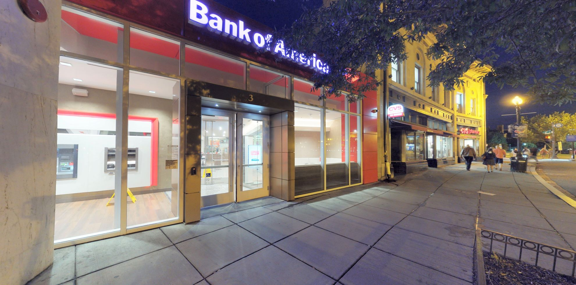 Bank of America financial center with walk-up ATM   3 Dupont Cir NW, Washington, DC 20036