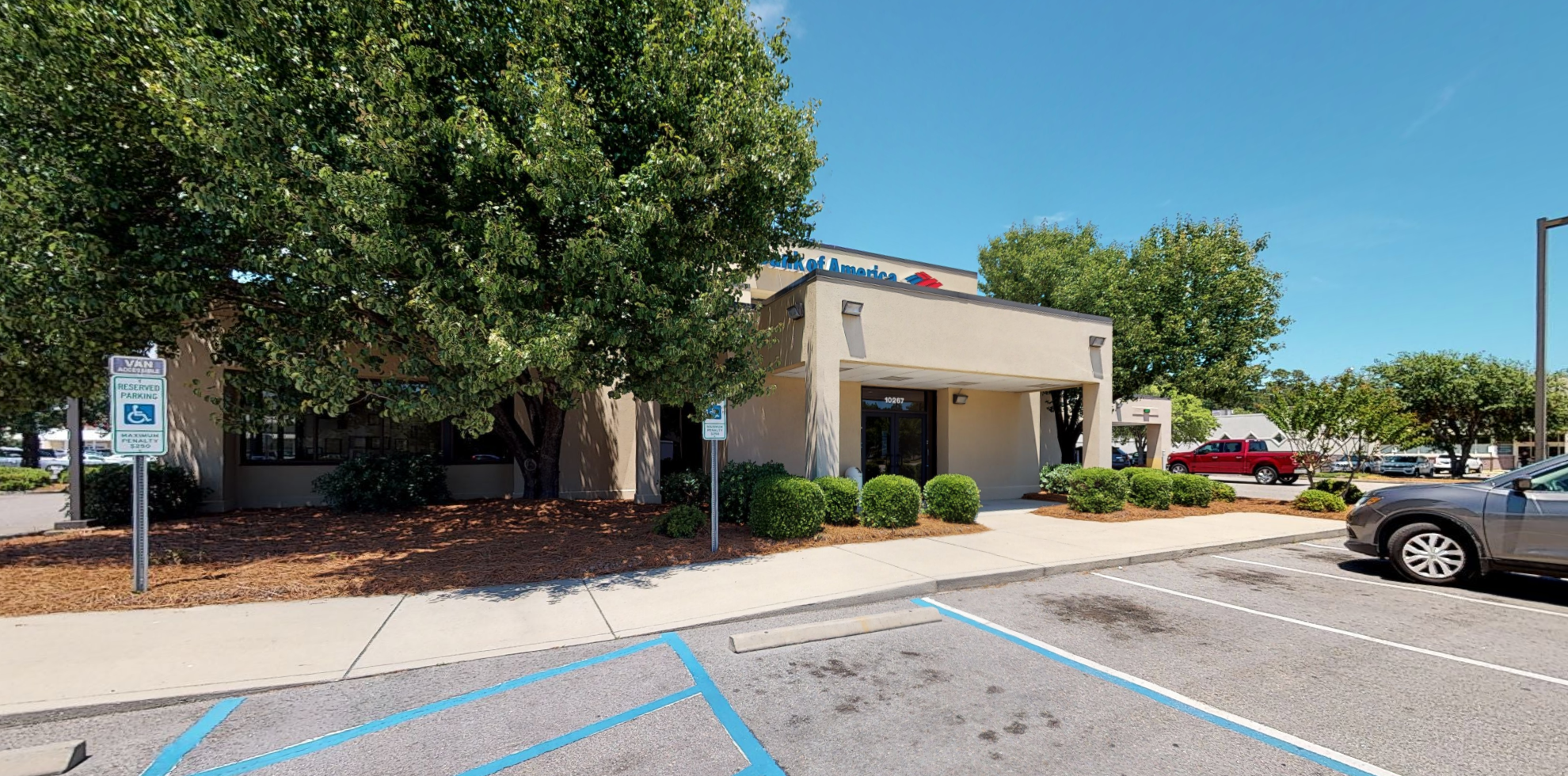 Bank of America financial center with drive-thru ATM and teller   10267 Ocean Hwy, Pawleys Island, SC 29585